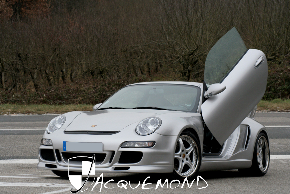 wide body kit and rear wing spoiler elytral doors for Porsche 996 Jacquemond