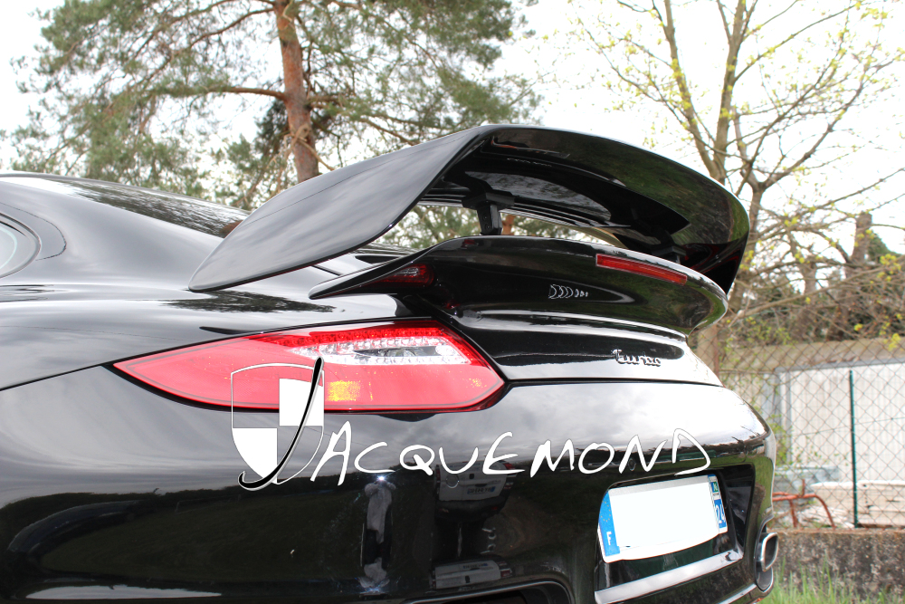 Porsche 997 Turbo GT2 style rear wing spoiler by Jacquemond