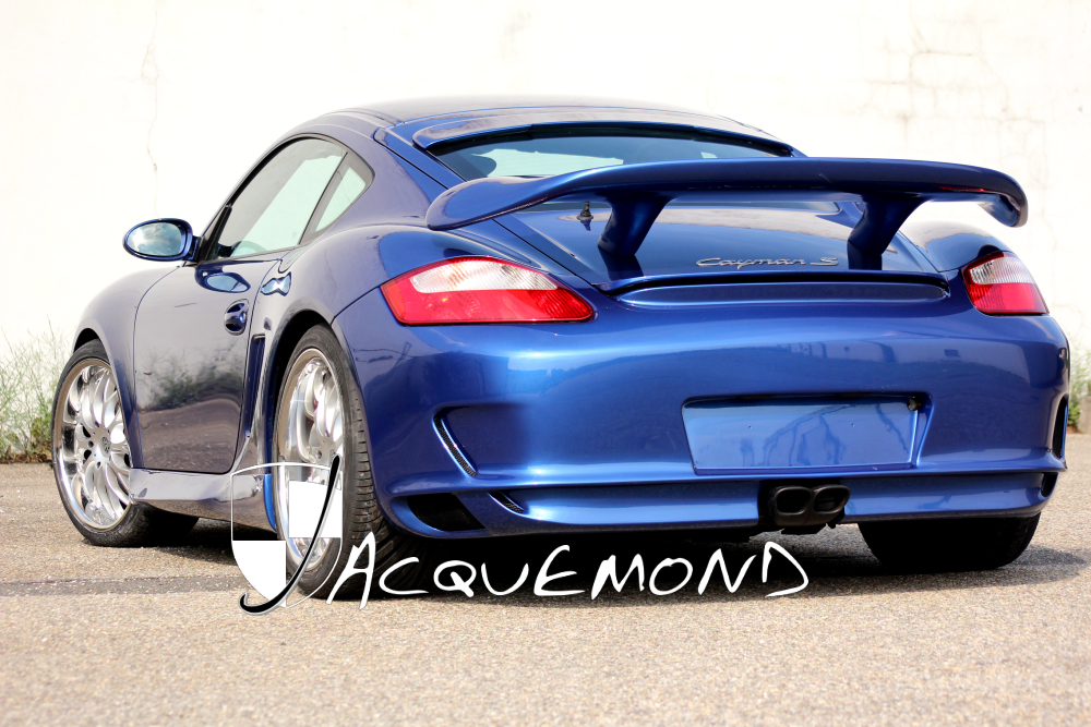 body kit and rear wing spoiler for Porsche 987 Cayman Mk1, Mk2 by Jacquemond