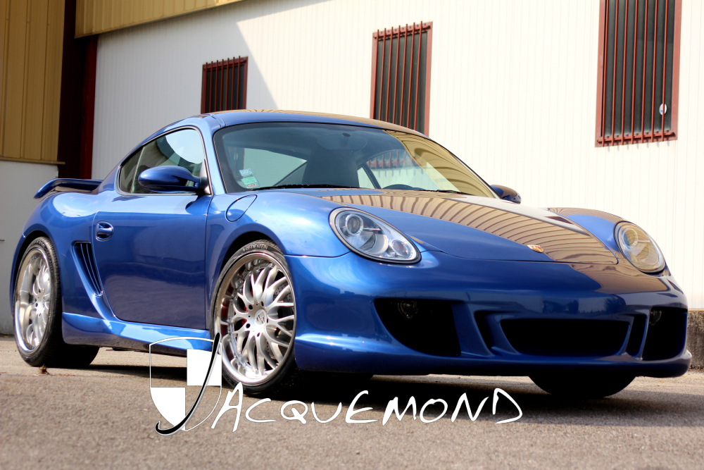 wide body kit and rear wing spoiler for Porsche 987 Cayman Mk1, Mk2 by Jacquemond