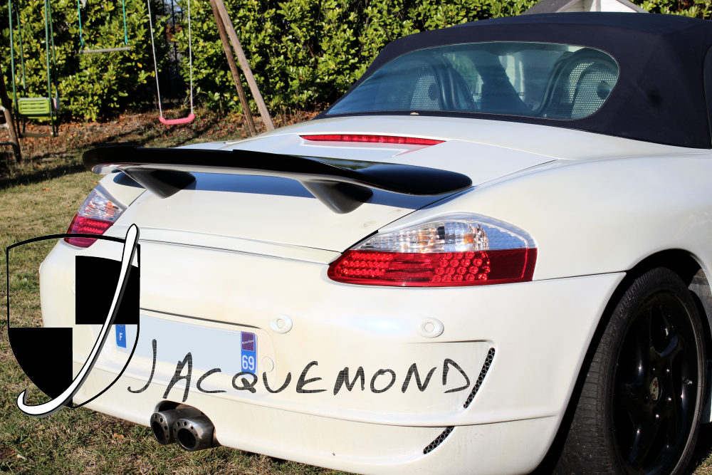 rear wing spoiler for Porsche 987 and 986 Boxster by Jacquemond