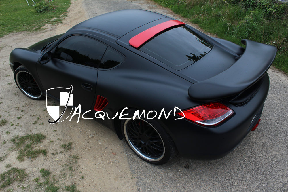 Racing Toy rear wing spoiler for Porsche Cayman 987 Mk1, Mk2 by Jacquemond